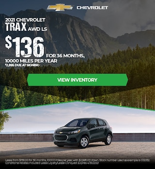 2021 Chevrolet Trax AWD LS  - $136 Lease