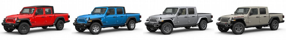 The Jeep Gladiator Sport, Sport S, Overland & Rubicon