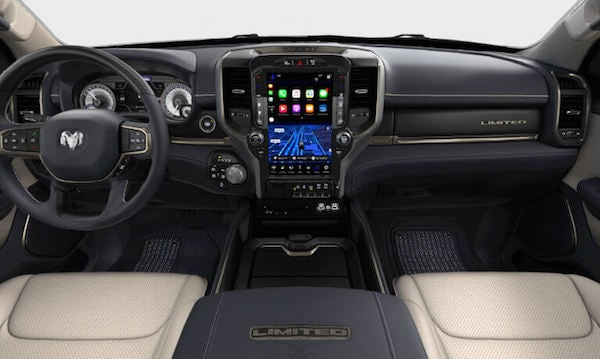 The dashboard of the 2019 Ram 1500