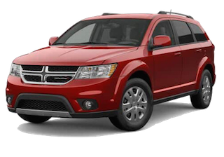 A red 2019 Dodge Journey SE