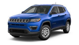 A blue 2019 Jeep Compass Sport