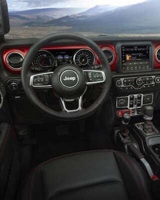 The dashboard of the 2020 Jeep Gladiator