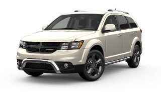A white 2019 Dodge Journey Crossroad