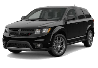 A black 2019 Dodge Journey GT