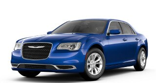 A blue 2019 Chrysler 300 Touring