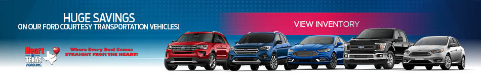 Ford Courtesy Transportation Vehicles Banner
