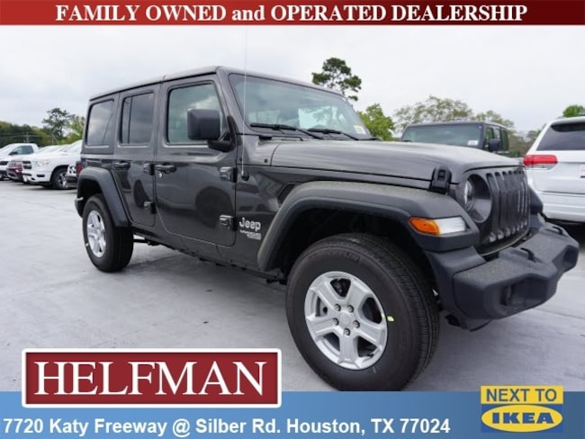 New 2019 Jeep Wrangler UNLIMITED SPORT S 4X4 Sport Utility for Sale in Houston, TX at Helfman Dodge Chrysler Jeep Ram