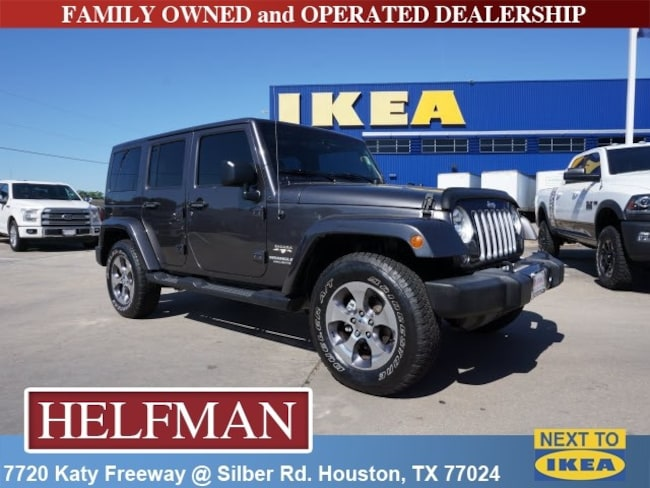 Used 2016 Jeep Wrangler JK Unlimited Sahara 4x4 SUV for Sale in Houston, TX at Helfman Dodge Chrysler Jeep Ram