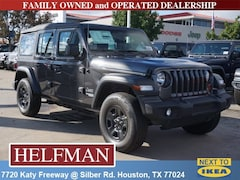 New 2018 Jeep Wrangler UNLIMITED SPORT 4X4 Sport Utility 1C4HJXDG0JW263474 for Sale in Houston, TX at Helfman Dodge Chrysler Jeep Ram