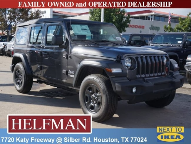 new 2018 jeep wrangler unlimited sport 4x4 for sale in houston near spring tx katy tx jw263474. Black Bedroom Furniture Sets. Home Design Ideas