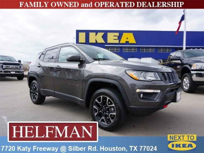 Used 2019 Jeep Compass Trailhawk 4x4 SUV for Sale in Houston, TX at Helfman Dodge Chrysler Jeep Ram