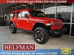 New 2018 Jeep Wrangler UNLIMITED RUBICON 4X4 Sport Utility 1C4HJXFN7JW195959 for Sale in Houston, TX at Helfman Dodge Chrysler Jeep Ram