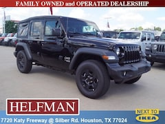 New 2018 Jeep Wrangler UNLIMITED SPORT 4X4 Sport Utility 1C4HJXDN7JW287057 for Sale in Houston, TX at Helfman Dodge Chrysler Jeep Ram
