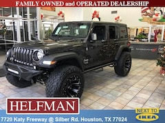 Lifted 2018 Jeep Wrangler UNLIMITED SPORT S 4X4 Sport Utility 1C4HJXDG6JW320969 for Sale in Houston, TX at Helfman Dodge Chrysler Jeep Ram