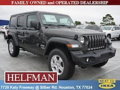 New 2018 Jeep Wrangler UNLIMITED SPORT S 4X4 Sport Utility 1C4HJXDN6JW203908 for Sale in Houston, TX at Helfman Dodge Chrysler Jeep Ram