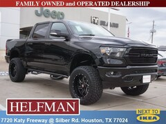 Lifted 2019 Ram 1500 BIG HORN / LONE STAR CREW CAB 4X4 5'7 BOX Crew Cab 1C6SRFFT7KN696131 for Sale in Houston, TX at Helfman Dodge Chrysler Jeep Ram