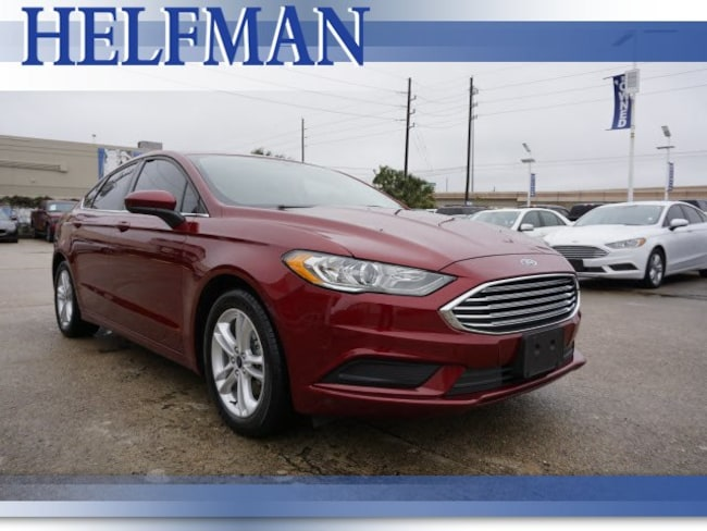 Certified 2018 Ford Fusion SE Sedan for Sale in Stafford, TX at Helfman Ford