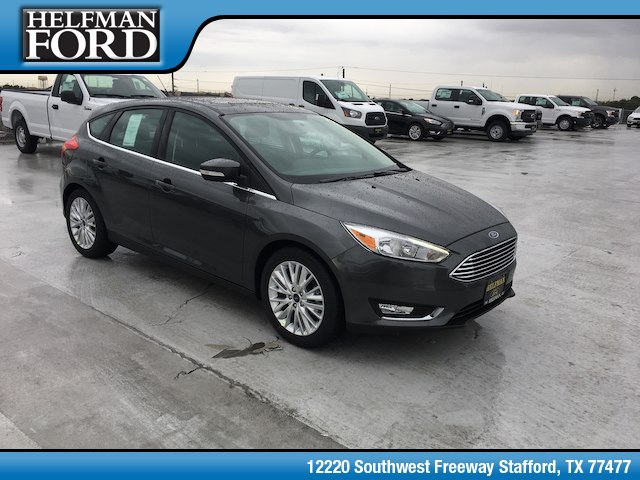 New 2018 Ford Focus Titanium Hatchback for Sale in Stafford, TX at Helfman Ford