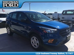 New 2019 Ford Escape S SUV 1FMCU0F74KUA04890 for Sale in Stafford, TX at Helfman Ford