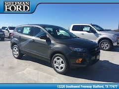New 2019 Ford Escape S SUV 1FMCU0F76KUA62645 for Sale in Stafford, TX at Helfman Ford
