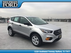New 2019 Ford Escape S SUV 1FMCU0F72KUA79054 for Sale in Stafford, TX at Helfman Ford