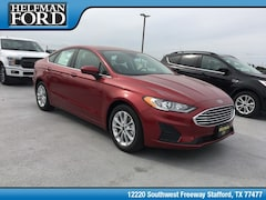 New 2019 Ford Fusion SE Sedan 3FA6P0HD0KR132598 for Sale in Stafford, TX at Helfman Ford