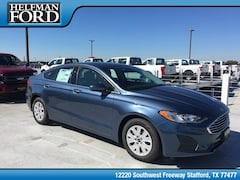 New 2019 Ford Fusion S Sedan 3FA6P0G70KR132595 for Sale in Stafford, TX at Helfman Ford