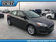 New 2018 Ford Focus SE Hatchback 1FADP3K25JL240325 for Sale in Stafford, TX at Helfman Ford