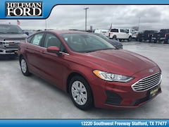 New 2019 Ford Fusion S Sedan 3FA6P0G77KR113686 for Sale in Stafford, TX at Helfman Ford