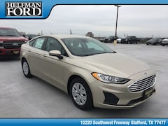 New 2019 Ford Fusion S Sedan 3FA6P0G72KR132596 for Sale in Stafford, TX at Helfman Ford