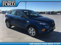 New 2019 Ford Escape S SUV 1FMCU0F71KUA53724 for Sale in Stafford, TX at Helfman Ford