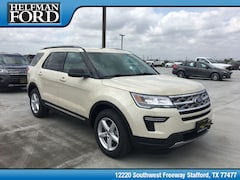 New 2018 Ford Explorer XLT SUV 1FM5K7D85JGB07722 for Sale in Stafford, TX at Helfman Ford