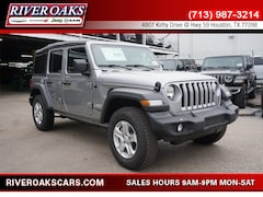 New 2018 Jeep Wrangler UNLIMITED SPORT S 4X4 Sport Utility for Sale in Houston, TX at River Oaks Chrysler Jeep Dodge Ram