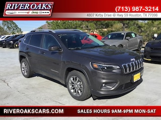 New 2019 Jeep Cherokee LATITUDE PLUS FWD Sport Utility 1C4PJLLB8KD393249 for Sale in Houston, TX at River Oaks Chrysler Jeep Dodge Ram