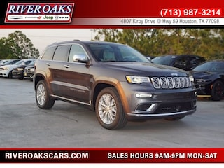 New 2018 Jeep Grand Cherokee SUMMIT 4X2 Sport Utility 1C4RJEJG8JC480723 for Sale in Houston, TX at River Oaks Chrysler Jeep Dodge Ram