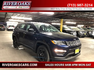 New 2019 Jeep Compass SPORT FWD Sport Utility 3C4NJCAB7KT699928 for Sale in Houston, TX at River Oaks Chrysler Jeep Dodge Ram