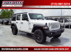 New 2018 Jeep Wrangler UNLIMITED SPORT 4X4 Sport Utility for Sale in Houston, TX at River Oaks Chrysler Jeep Dodge Ram