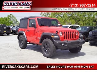 New 2018 Jeep Wrangler SPORT 4X4 Sport Utility 1C4GJXAG1JW139603 for Sale in Houston, TX at River Oaks Chrysler Jeep Dodge Ram