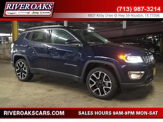 New 2018 Jeep Compass LIMITED FWD Sport Utility 3C4NJCCB0JT204299 for Sale in Houston, TX at River Oaks Chrysler Jeep Dodge Ram