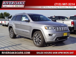 New 2018 Jeep Grand Cherokee OVERLAND 4X2 Sport Utility 1C4RJECG3JC480707 for Sale in Houston, TX at River Oaks Chrysler Jeep Dodge Ram