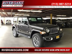 New 2019 Jeep Wrangler UNLIMITED SAHARA 4X4 Sport Utility for Sale in Houston, TX at River Oaks Chrysler Jeep Dodge Ram