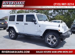 New 2018 Jeep Wrangler Unlimited WRANGLER JK UNLIMITED SAHARA 4X4 Sport Utility for Sale in Houston, TX at River Oaks Chrysler Jeep Dodge Ram