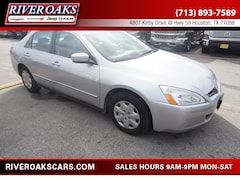Used 2004 Honda Accord 2.4 LX Sedan 3HGCM56374G709057 for Sale in Houston, TX at River Oaks Chrysler Jeep Dodge Ram