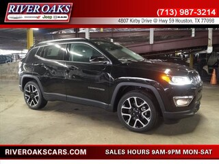 New 2018 Jeep Compass LIMITED FWD Sport Utility 3C4NJCCB7JT208298 for Sale in Houston, TX at River Oaks Chrysler Jeep Dodge Ram