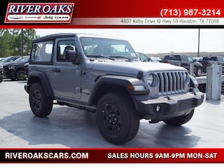 New 2018 Jeep Wrangler SPORT 4X4 Sport Utility 1C4GJXAN8JW195682 for Sale in Houston, TX at River Oaks Chrysler Jeep Dodge Ram