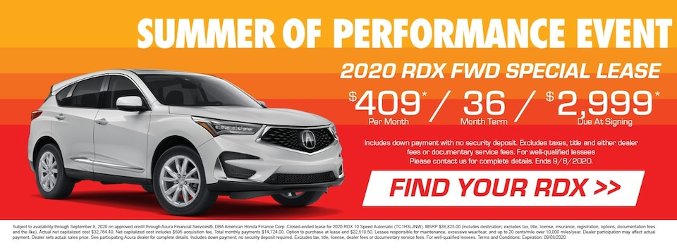 2020 Acura RDX FWD Special Lease
