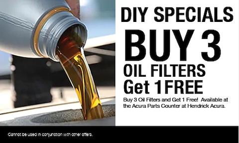 DIY Oil Filter Offer - Buy 3 Get 1 Free