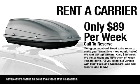 Rent a Carrier $89 Per Week