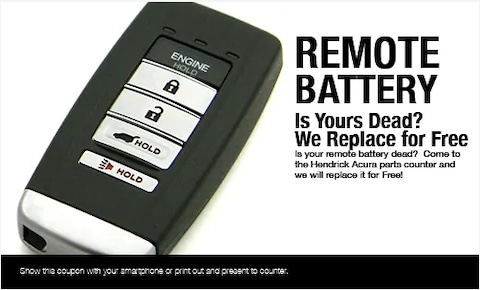 Remote Battery Replacement Offer