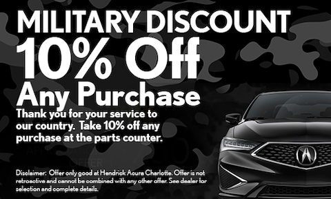 Military Discount for Parts